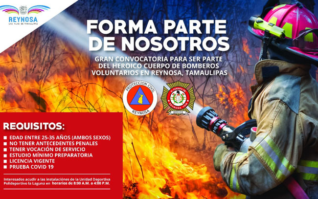 Invitan a ser Bomberos voluntarios de Reynosa