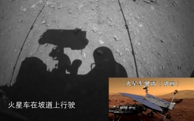 Revelan videos del rover Zhurong en Marte
