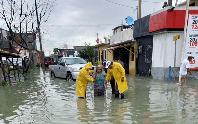 Activan albergue por inundaciones en Reynosa