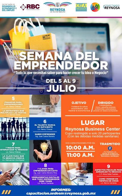 Del 5 al 9 de Julio la 'Semana del Emprendedor'