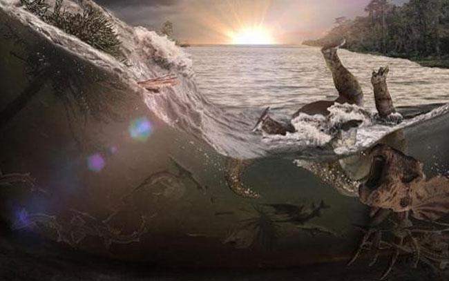 Descubren huellas del desastre que extinguió los dinosaurios