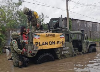 """Ejército Mexicano aplica """"Fase de Auxilio"""" en Matamoros"""