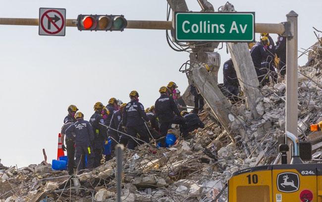 Hallan otros 3 cadáveres entre escombros de edificio colapsado en Miami