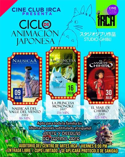 IRCA presenta ciclo de animación japonesa