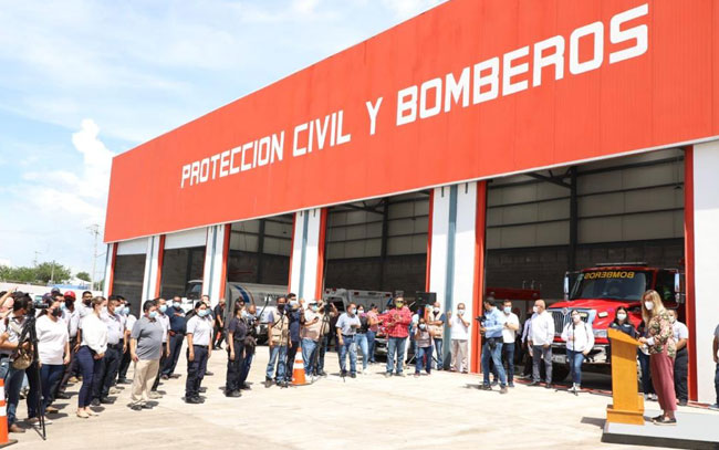 Inauguran nuevo edificio de Protección Civil y Bomberos de Reynosa