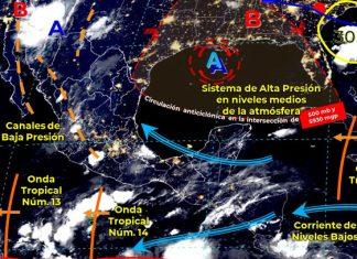 Onda Tropical 14 se extenderá al occidente y sur del país