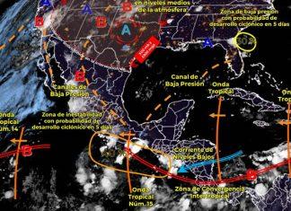 Onda tropical 15 se extenderá al sur del país
