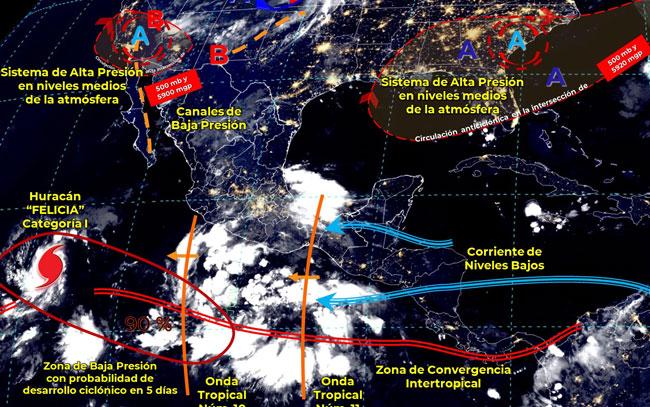 Podría desarrollarse ciclón frente a costas de Guerrero y Oaxaca