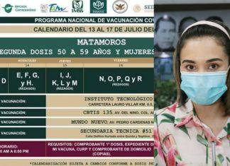 Posponen aplicación de segunda dosis en Matamoros