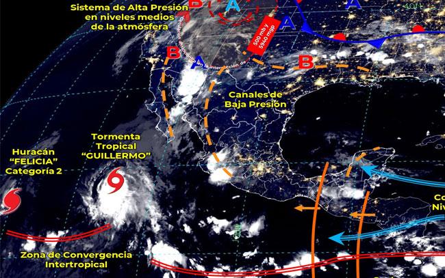 Pronostican lluvias en gran parte de la República Mexicana