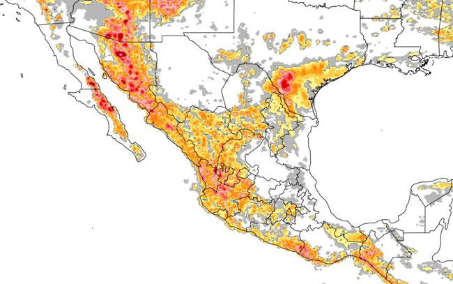 Onda tropical 13 mantendrá probabilidad de lluvias