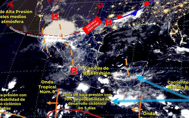 Se pronostican lluvias y granizadas en el país