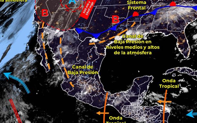 Sistema frontal se aproxima a frontera norte de México