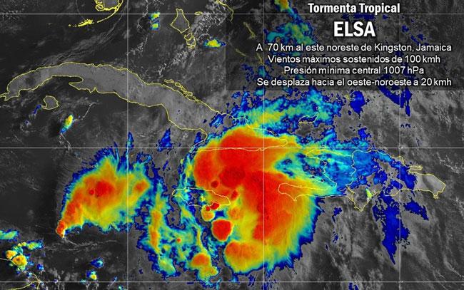 Tormenta Tropical Elsa toca tierra en Cuba
