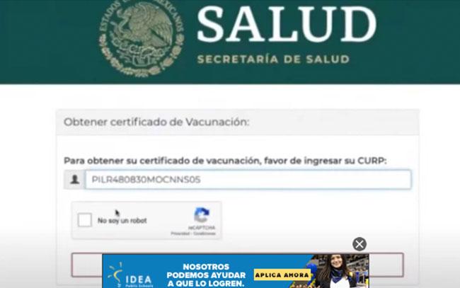 Éste es el proceso para obtener tu certificado de vacunación