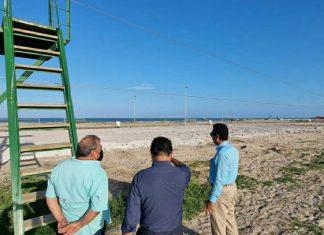Supervisa alcalde de Matamoros trabajos en parque de Playa Bagdad