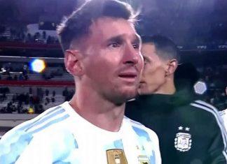 Lionel Messi estalló en llanto la noche que superó al mítico Pelé