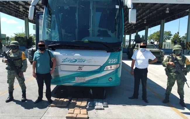 Aseguran 29 kgs de cocaína en autobús que tenía como destino Reynosa