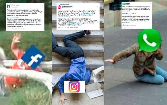 Caída a nivel mundial de WhatsApp, Instagram y Facebook los convierten en tendencia