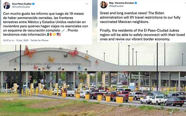 EU reabrirá frontera con México