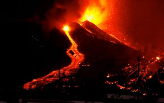 Erupción en el volcán de Palma