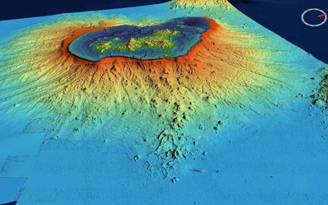 Se forma nuevo volcán en el océano índico